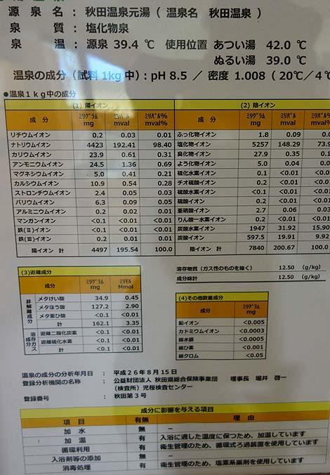 秋田市内にある大人気のアルカリぬるぬるの日帰り入浴施設「秋田温泉プラザ」(秋田市)