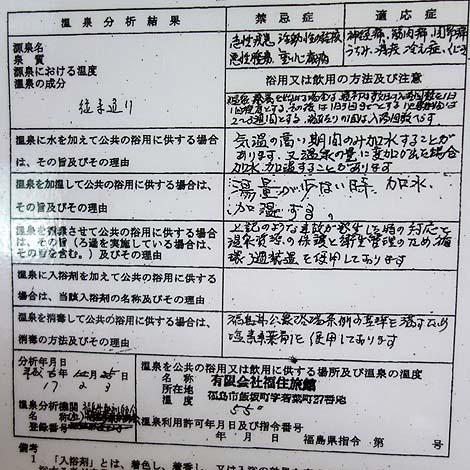 温泉博士でのはしご温泉2軒目 飯坂温泉「福すむ宿 福住旅館」(福島市)