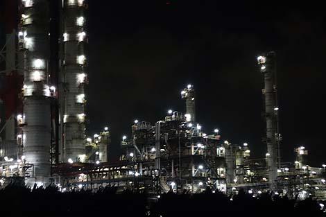 全国的にもナンバー1に綺麗な工場夜景やと思いますけど・・・不幸が「鹿島コンビナート地帯工場夜景」(茨城)