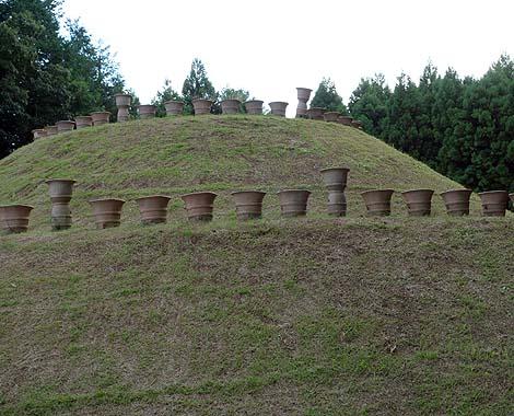はに丸タワー?高さ17.3mもある巨大埴輪の展望台があります「くれふしの里 古墳公園」(茨城水戸)