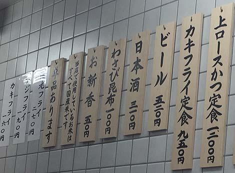 とんかつ 山家[やまべ] 上野店(東京)750円の激安ロース豚カツ定食はごはんてんこ盛り♪