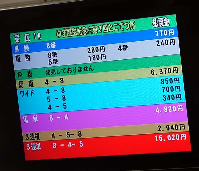 果たして晩御飯代はばんえい競馬で稼ぐことができたか?帯広駅前の100%源泉かけ流しビジネスホテルで宿泊(2日目後編)