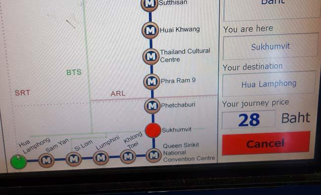 タイバンコクの地下鉄(MRT)は地上のBTSとの併用で市街地観光はぼったくりタクシー使わずお手の物♪