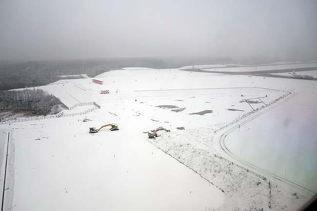 おっかなびっくり猛吹雪の中で着陸強行!ソウルから帰って来ました北海道の大地