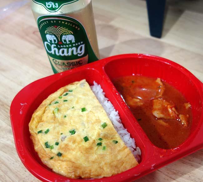 疲れ切った日本・新千歳からタイ・ドンムアンへの移動・・・晩飯はセブンイレブンでお弁当?