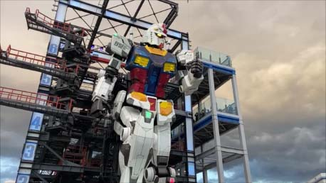 【おっさん一人旅11日目】GUNDAM FACTORY YOKOHAMA 実物大ガンダムが横浜で起動!RX78-2 機動戦士ガンダム40周年プロジェクト A full-scale robot moves