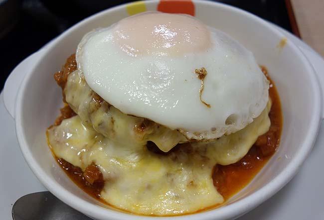 松屋の期間限定「トマトフォンデュソースのチーズエッグビーフハンバーグステーキ定食」950円をタダ食い