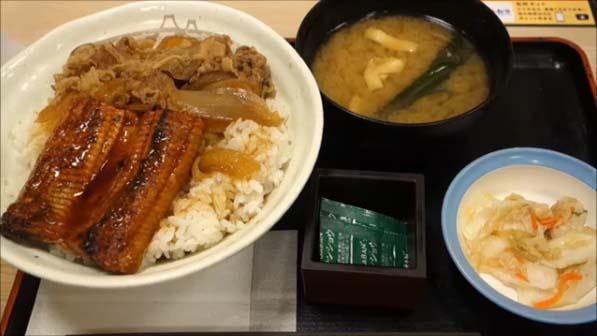 【松屋・うなぎコンボ牛めし】今年はなんと春も期間限定でうな丼の販売が開始!990円のこの丼も株主優待でタダ食いしてきた Matsuya eel and beef plate set meal 北海道旭川
