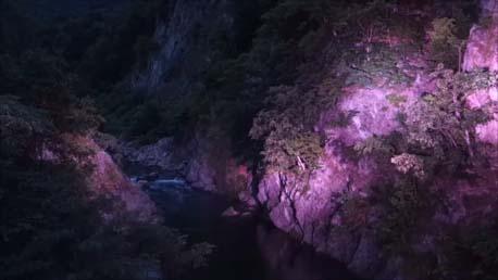 【定山渓温泉宿泊者限定】JOZANKEI NATURE LUMINARIE 定山渓ネイチャールミナリエ 自然と3Dプロジェクションマッピング 北海道札幌