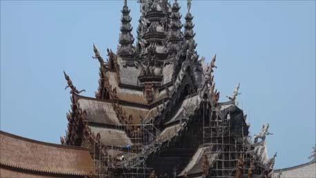 【サンクチュアリ・オブ・トゥルース】東洋のサクラダファミリアと呼ばれる木造巨大建築への行き方と入場 The Sanctuary of Truth