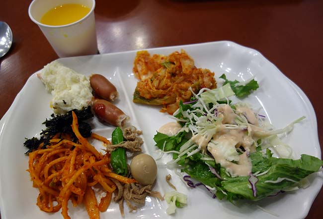 日系ホテル朝食バイキングのお味は?今日が韓国釜山旅行最終日となります