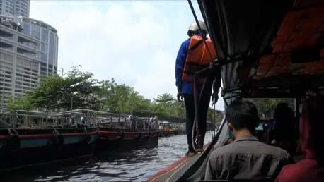 【タイバンコク】センセーブ運河の水上ボートを使えば約40円でカオサン⇔プラトゥームを渋滞なく行き来できます♪