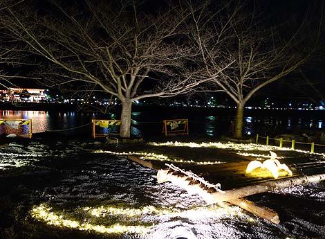 嵐山花灯路(2013年12月)京都・夜のライトアップ