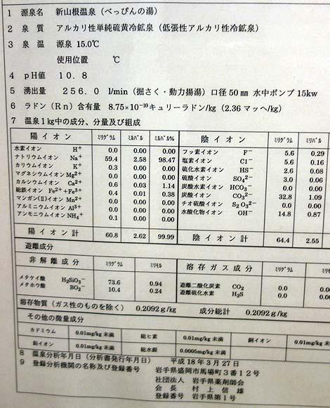 PH値10.8!とんでもない数値の強アルカリ泉「新山根温泉 べっぴんの湯」(岩手久慈)