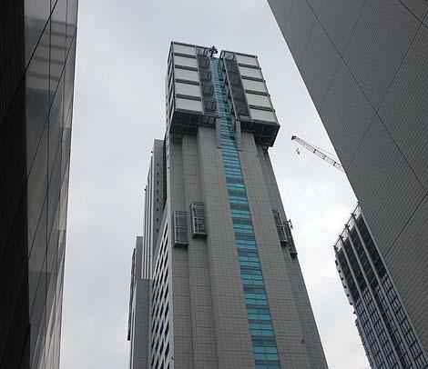 まるでウルトラ警備隊本部のような・・・NTTドコモ品川ビル(東京品川)珍建築