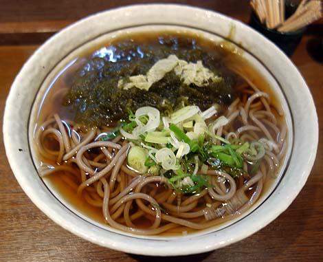 ふじ田(北海道稚内キタカラ)利尻昆布を使った蕎麦を日本最北端の駅そばでいただく