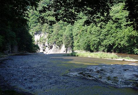 東洋のナイアガラと呼ばれる天然記念物に指定された滝「吹割の滝」(群馬沼田)