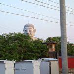 こんな個性のある顔だちの大仏様は見たことない「布袋の大仏」(愛知県江南市)