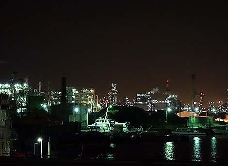 日本一の工場地帯である「京浜工業地帯」(横浜~川崎)コンデジ片手オート撮影での工場夜景写真
