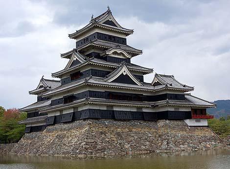 松本城と旧開智学校(長野県松本市)