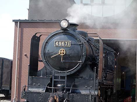 SL蒸気機関車の形をしたユニークな駅舎「真岡駅」SLキューロク館(栃木真岡)珍建築
