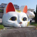 とっても巨大な招き猫にじっと見つめられる・・・「とこにゃん」(愛知常滑)