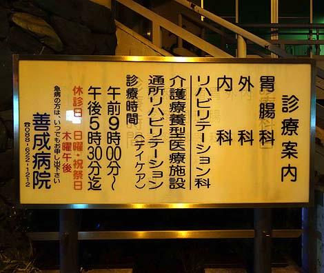 善成病院(徳島市)怪しいニセ城シリーズ